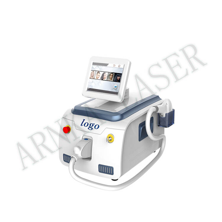 Diode laser hair removal beauty machine